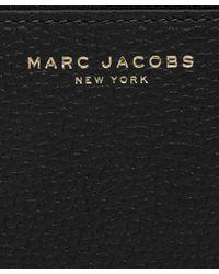 Marc Jacobs - Black Grained Leather Top Zip Wallet - Lyst
