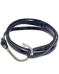 Miansai - Blue Leather Wrap Bracelet - Lyst