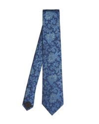 Simon Carter - Blue Vine Broken Paisley Print Tie for Men - Lyst
