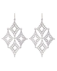 Laurent Gandini - Metallic Sterling Silver Kite Earrings - Lyst