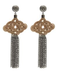 Anna E Alex   Multicolor Silk Passementarie Chain Tassel Earrings   Lyst