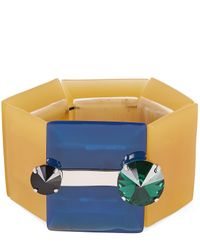 Marni - Metallic Dawn Resin Bracelet - Lyst