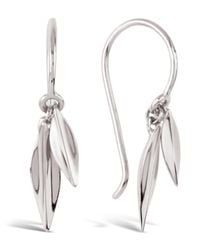 Dinny Hall - Metallic Silver Lotus Double Leaf Drop Earrings - Lyst