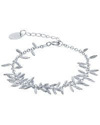 Alex Monroe - Metallic Silver Fennel Kissing Seed Bracelet - Lyst