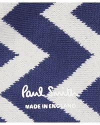 Paul Smith - Blue Zig Zag Socks for Men - Lyst