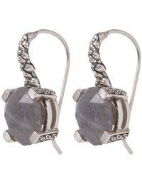 Stephen Dweck - Metallic Silver Labradorite Engraved Floral Drop Earrings - Lyst
