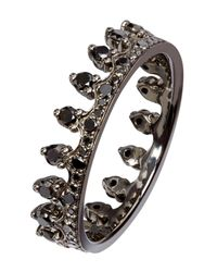 Annoushka - Metallic Black Diamond Crown Ring - Lyst