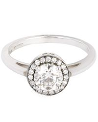 Anna Sheffield - White Gold Round Rosette White Diamond Ring - Lyst