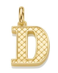 Monica Vinader | Metallic Gold-plated Alphabet Pendant D | Lyst