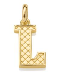 Monica Vinader | Metallic Gold-plated Alphabet Pendant A-z | Lyst