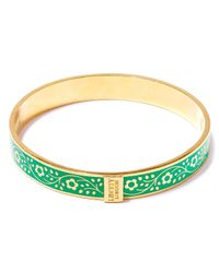 Liberty | Green Pemberley Enamel Solid Floral Bracelet | Lyst