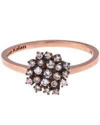 Suzanne Kalan - Multicolor Rose Gold Champagne Diamond Starburst Ring - Lyst