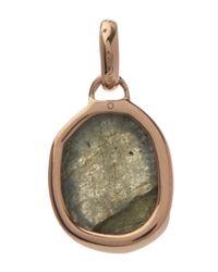 Monica Vinader - Metallic Rose Gold-plated Labradorite Siren Medium Bezel Pendant - Lyst