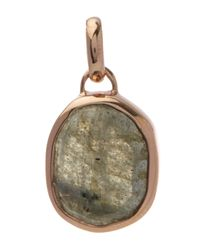 Monica Vinader - Metallic Rose Gold-plated Labradorite Siren Medium Bezel Pendant - Lyst