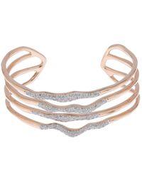 Monica Vinader | Metallic Riva Diamond Hero Wave Cuff | Lyst