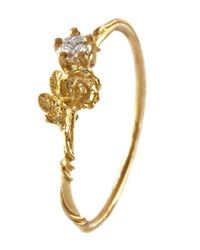 Alex Monroe | Metallic Gold Plated Buttercup Ring | Lyst
