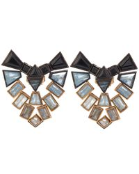 Nak Armstrong | Metallic Rose Gold Oxidised Silver Earrings | Lyst
