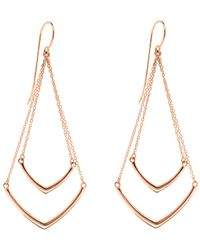 Dinny Hall   Metallic Gold-plated Cushion Tiered Chevron Earrings   Lyst