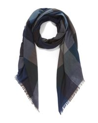 Paul Smith | Blue Herringbone Wool Scarf for Men | Lyst