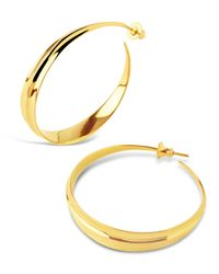 Dinny Hall - Metallic Large Gold-plated Lotus Hoops - Lyst