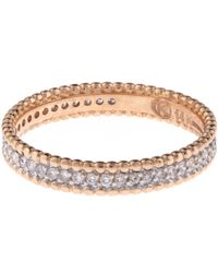 Kismet by Milka - Pink Rose Gold White Diamond Eternity Band - Lyst