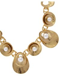 Oscar de la Renta - Blue Pearl Disc Necklace - Lyst