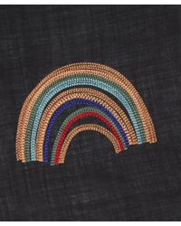 Paul Smith - Black Rainbow Scarf - Lyst
