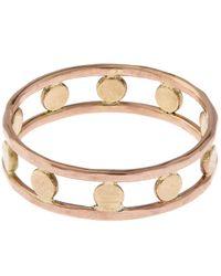 Melissa Joy Manning | Metallic Gold Double Band Circle Ring | Lyst