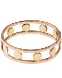 Melissa Joy Manning - Metallic Gold Double Band Circle Ring - Lyst