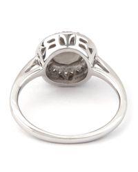 Anna Sheffield - White Sterling Silver Moonstone Rosette Ring - Lyst