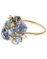 Suzanne Kalan | Gold English Blue Topaz Cluster Ring | Lyst
