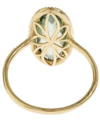 Suzanne Kalan - Metallic Gold Green Topaz And White Diamond Ring - Lyst