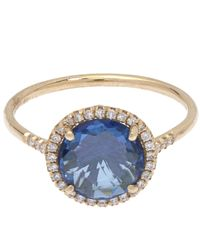 Suzanne Kalan | Metallic Gold Diamond And Topaz Ring | Lyst