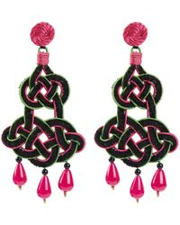Anna E Alex | Black Chandelier Deco Earrings | Lyst