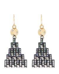 Lulu Frost - Metallic Aurora Swarovski Stone Earrings - Lyst