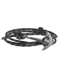 Miansai | Black Anchor On Rope Bracelet | Lyst