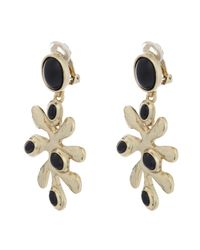 Oscar de la Renta - Black Sea Tangle Clip-on Earrings - Lyst
