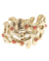 Oscar de la Renta | Metallic Sea Tangle Resin Cuff Bracelet | Lyst
