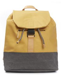 Ally Capellino - Yellow Haye Canvas Backpack for Men - Lyst