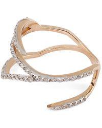 Kismet by Milka - Metallic White Diamond Zebra Pinky Ring - Lyst