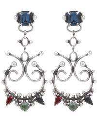 DANNIJO | Metallic Adelyn Crystal Statement Earrings | Lyst
