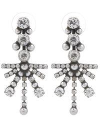 DANNIJO | Metallic Wynter Silver Starburst Drop Earrings | Lyst