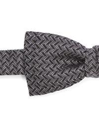 Lanvin - Black Zig Zag Bow Tie for Men - Lyst
