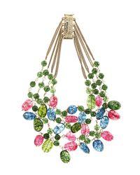 Rosantica   Green Kiwi Multilayer Necklace   Lyst