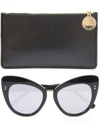 Stella McCartney | Black Retro Cat-eye Sunglasses | Lyst