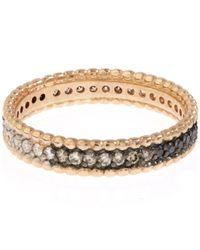 Kismet by Milka | Metallic Rose Gold Tricolour Diamond Eternity Ring | Lyst