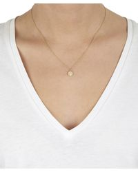 Satomi Kawakita - Metallic Large Gold Milgrain Hexagonal Charm Diamond Necklace - Lyst