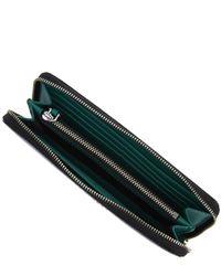 Marc Jacobs   Blue Saffiano Bi-colour Continental Wallet   Lyst