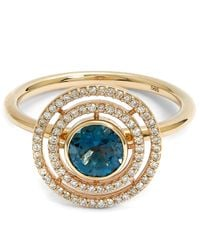 Astley Clarke | Metallic Exclusive London Blue Topaz Icon Aura Ring | Lyst