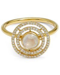 Astley Clarke | Metallic Exclusive Gold Moonstone Icon Aura Ring | Lyst